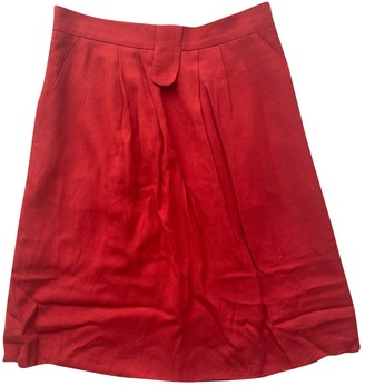 Les Prairies de Paris Red Skirt for Women
