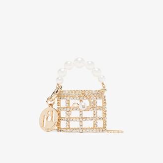 Rosantica gold tone Baby Holli crystal mini bag