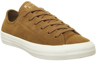 Converse Allstar Low Leather Trainers Burnt Sienna Egret Minimal Exclusive