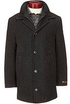 Daniel Cremieux Signature Wool Attached Bib Car Coat