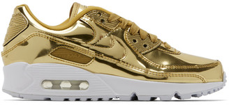 Nike Gold Metallic Air Max 90 Sneakers