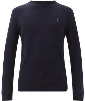 Polo Ralph Lauren Logo Embroidered Merino Wool Sweater - Mens - Navy