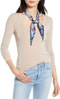 Rebecca Minkoff Fan Floral Silk Scarf