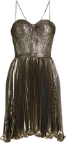 Maria Lucia Hohan Norina silk-blend lamé pleated dress