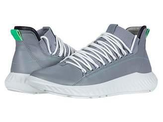 Ecco ST.1 Lite Mid Cut Sneaker (Black/Black/Black) Men's Shoes