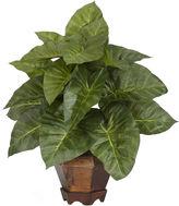 Asstd National Brand Nearly Natural Taro With Vase Silk Plant