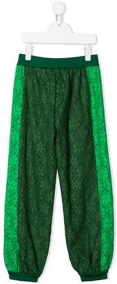 Gucci Kids Floral Lace Track Pants