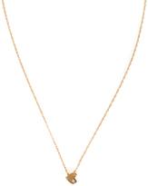 Jennifer Zeuner Jewelry XS Horizontal Heart Necklace with Diamond