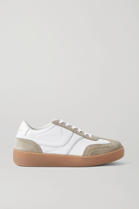 Dries Van Noten Leather And Suede Sneakers - White