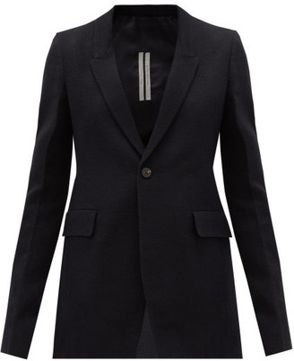 Rick Owens Extreme Soft Single-breasted Cotton-blend Blazer - Black