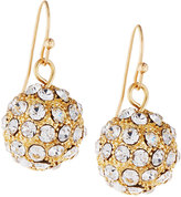 Fragments for Neiman Marcus Pave Crystal Ball Drop Earrings, Gold