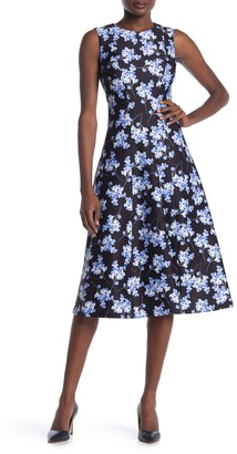 Tommy Hilfiger Blossom Bouquet Floral Print Midi Dress
