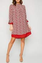 Hayden Printed Collar Dress