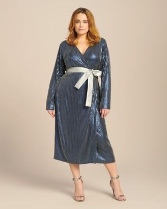 Dima Ayad Studded Wrap Midi Dress