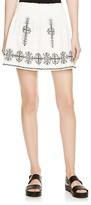 Joie Almanza Embroidered Cotton Skirt