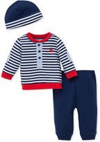 Little Me 3-Pc. Sailor Hat, Top & Pants Set, Baby Boys (0-24 months)