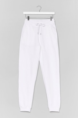 Nasty Gal Womens Run Us Through It High-Waisted Joggers - White - M, White
