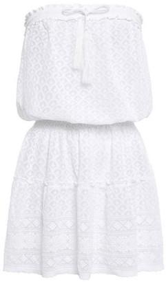 Melissa Odabash Fru Strapless Tassel-trimmed Lace Mini Dress