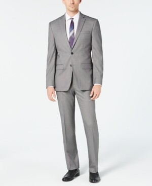 Van Heusen Men's Slim-Fit Flex Stretch Wrinkle-Resistant Suits