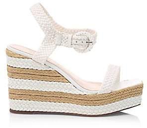 Schutz Women's Nani Braided Leather Platform Wedge Sandals