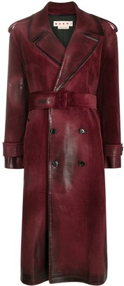 Marni Waxed Effect Trench Coat