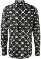 Dolce & Gabbana crown print shirt - men - Cotton - 44