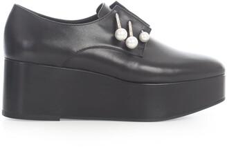 Coliac Pearl Embellished Platform Loafers