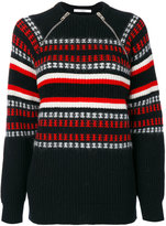 Givenchy zip-detail embroidered sweater