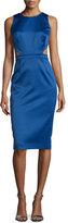 Cynthia Rowley Sleeveless Sheath Dress W/Open Back, Indigo