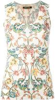 Roberto Cavalli floral print tank - women - Silk/Cashmere/Wool - 42