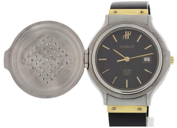 Hublot MDM S140.11.2 Stainless Steel / 18K Yellow Gold 32mm Womens Watch