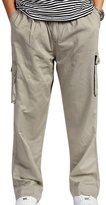 Panegy Mens Pull-on Performance Drawstring Elastic Adjustable High Waist Cargo Pants XXL