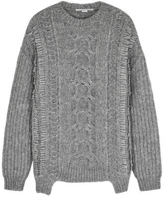 Stella McCartney Grey Cable-knit Alpaca-blend Jumper