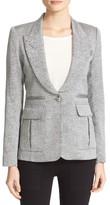 Smythe Women's Tweed Pleat Pocket Blazer