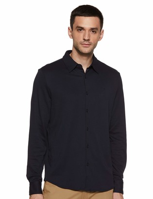 Calvin Klein Men's Long Sleeve Liquid Touch Polo Button Down Shirt