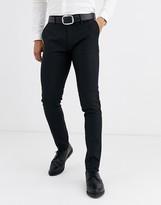 Devils Advocate skinny fit tuxedo suit pants