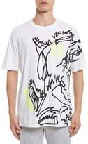 Versus By Versace Scribble Print T-Shirt