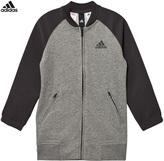 adidas Grey Full Zip Bomber Jacket