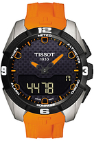 Tissot T0914204705101 T-touch Expert Solar Chronograph Altimeter Rubber Strap Watch, Orange/black