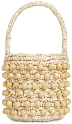 Sensi Mini Bucket Bag W/ Wooden Beads