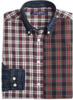 Brooks Brothers Boys' Oxford Fun Mixed-Plaid Shirt