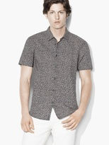 John Varvatos Abstract Floral Sport Shirt