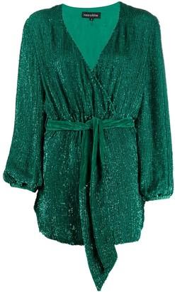 retrofete Embellished Wrap Style Dress