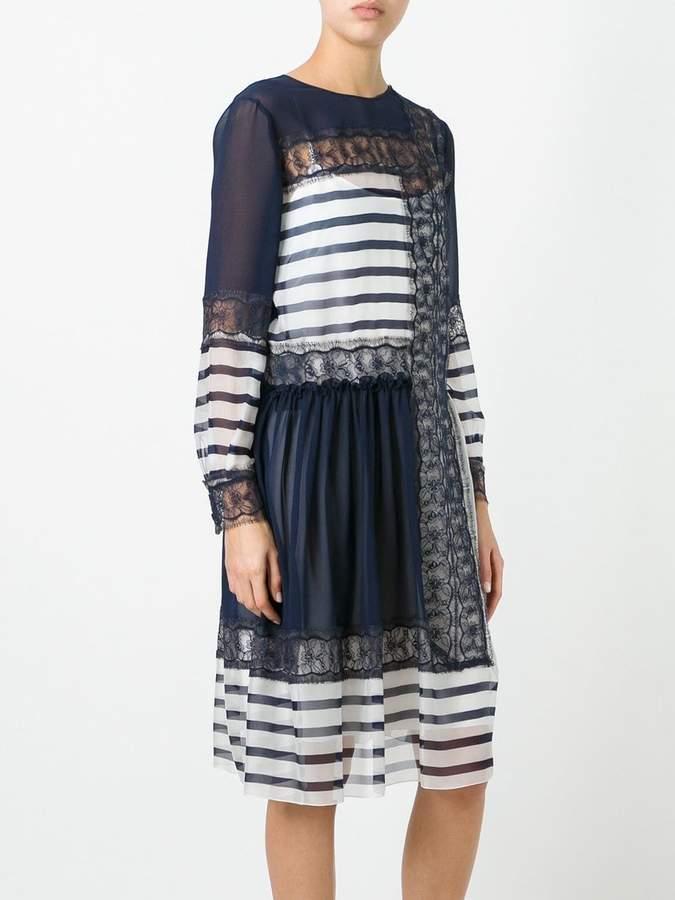 Alberta Ferretti contrast panel dress