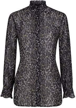 AllSaints Louise Leopard Blouse