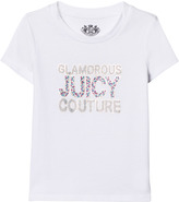 Juicy Couture White Jewelled and Glitter Tee