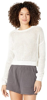Hurley Easy Open Knit Sweater (Sail) Women's Clothing