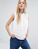 Monki Sleeveless Clean Shirt