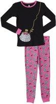 Petit Lem Rich Girl 2 Piece PJ Set (Toddler/Kid) - Black-2