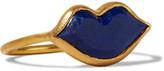 Marie Helene De Taillac Marie-Hélène de Taillac - 22-karat Gold Lapis Lazuli Ring - 7